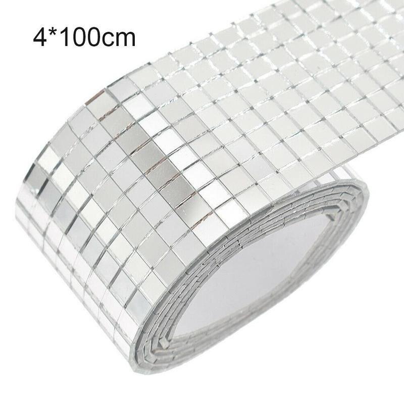 100x4 см стеклянная мозаичная плитка зеркало самоклеящаяся наклейка мини квадратная наклейка DIY украшение для дома DIY для гостиной|Наклейки на стену|   | АлиЭкспресс