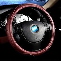Leather Car Steering Wheel Cover Gold Cup 750 Challenger SUV Handsome Ship Picasso 2 Is a Station Wagon Cowhide Grip Cover
