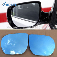smRKE 2Pcs For Hyundai Santa Fe Rearview Mirror Blue Glasses Wide Angle Led Turn Signals light Power Heating