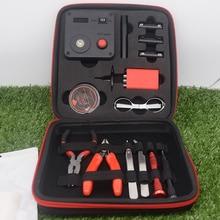 NEW V2 V3 DIY Kit All-in-One E-Cigarette Of Vape Ceramic Tweezers Heat Wire Pliers Tool Bag 521 Mini Tab Scissors For RDA ato