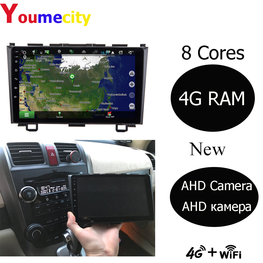 4G RAM/Eight Core/Android Car Multimedia Player For Honda CRV 3 2006-2011 2008 With Gps IPS Screen Wifi Bluetooth AHD Camera image