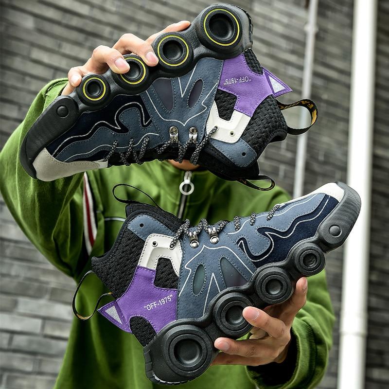Мужские теннисные туфли в новом стиле, нескользящая уличная спортивная обувь для мужчин, высокие мужские кроссовки, удобная мужская обувь, мужская обувь для тренировок