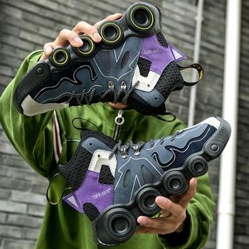 W nowym stylu męskie buty do tenisa antypoślizgowe męskie buty sportowe na świeżym powietrzu wysokie buty męskie tenisówki wygodne męskie buty męskie trenerzy tanie i dobre opinie lohengrin CN (pochodzenie) oddychająca Zwiększające wysokość Lekkie zbalansowane ANTYPOŚLIZGOWE Termiczne Mocne Support