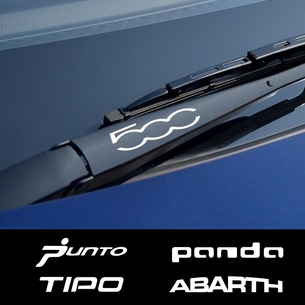 4PCS Sport Car Window Wiper Vinyl PVC Stickers For Fiat Punto 500 Panda Abarth Tipo Auto Decor Reflective Decals Car Accessories