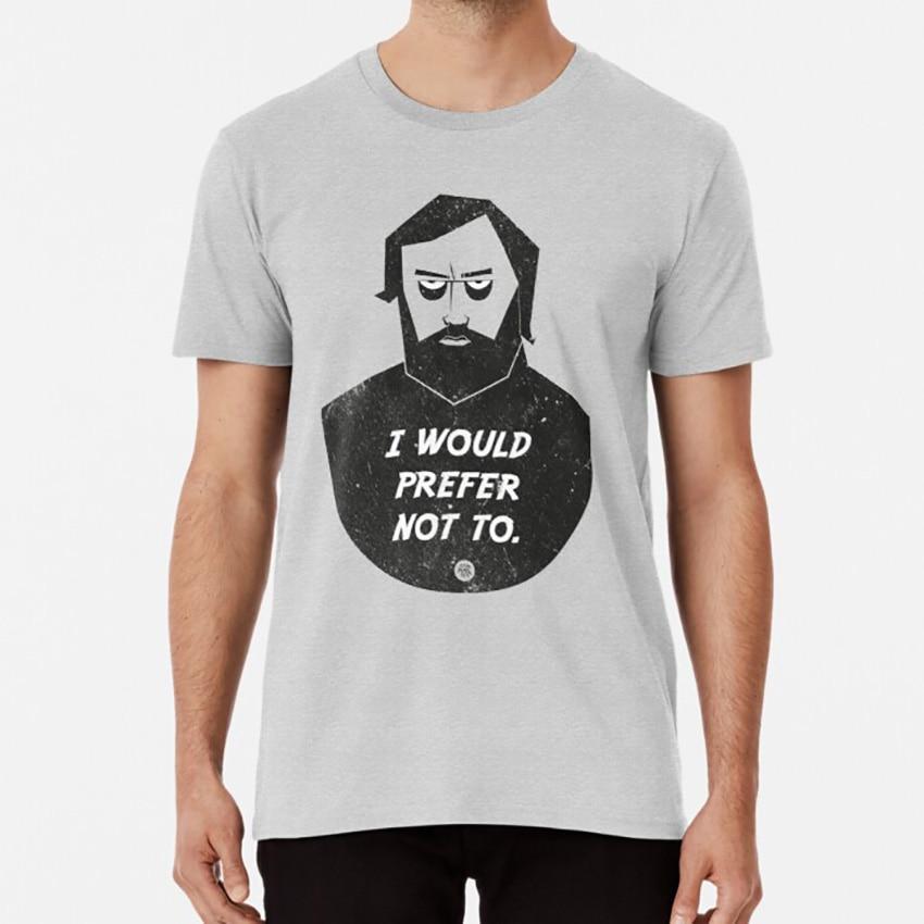 Slavoj Zizek - I Would Prefer Not To T Shirt Bartleby Melville Zizek Retro Vector Attitude