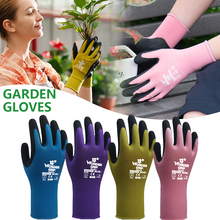 Garden-Gloves Genie And 1-Pair Plant Nylon Easy-To-Dig Quick