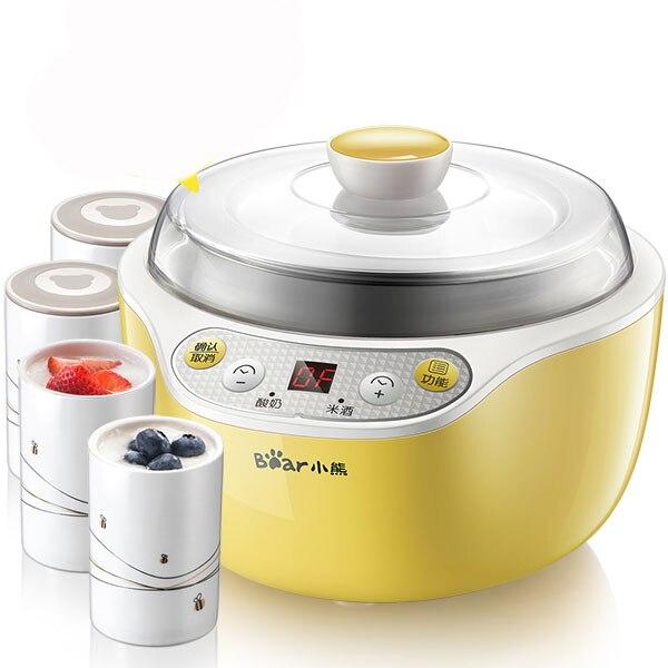 X54 Automatic Ceramics Yogurt Maker Frozen Yogurt Machine Rice Wine Maker Smart Timing Stainless Steel Liner With 4 Cups