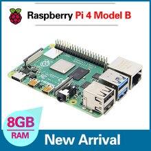 Mais novo raspberry pi 4 modelo 4b 8gb bcm2711 quad-core Cortex-A72 1.5ghz 1gb/2gb/4gb ram com banda dupla wifi suporte bluetooth poe