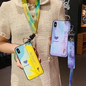 Image 5 - الهاتف حامل حالة ل Xiaomi Redmi ملاحظة 7 7pro ملاحظة 10 8 8pro 9 9s K20 K30 برو k40 مي 9 9T CC9 A3 بوكو X3 X2 المعصم حزام غطاء