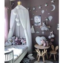 Москитная сетка с бесплатными звездами подвесная палатка детская кровать балдахин для детской кроватки Тюль Шторы для спальни игровой дом для детей детской