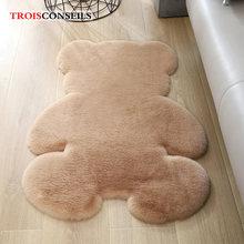 Мягкий Плюшевый коврик с медведем для гостиной детской комнаты