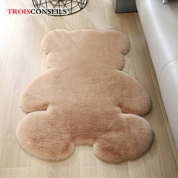 Soft Plush Bear Carpet For Living Room Baby Room Anti-slip Rug Bedroom Water Absorption Carpet Rugs Shaggy Home Floor Mat