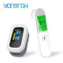 Yongrow-termómetro De atención médica para bebé, oxímetro De adulto con huella dactilar SPO2, Pulso De modo LCD Digital