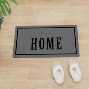 Image 3 - Kreative HAUSE PVC Boden Matte Non slip Küche Matte Moderne Dekoration Eingang Fußmatte Front Tür Schützen Boden Leder teppich