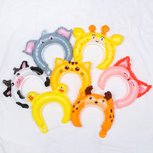 1pcs Mini Animal Headband Aluminum Balloons Head Wear Balloons Hair Clasp Wedding Favors and Gifts Birthday Party Supplies(China)