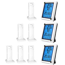 Touch screen Wireless Weather Station ℃/℉ Thermometer Hygrometer with 3 Forecast Sensor Temperature Humidity Monitor  19QB
