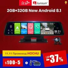 Junsun 안드로이드 8.1 2 기가 바이트 + 32 기가 바이트 ADAS 10 1 DashCam 자동차 DVR 미러 카메라 4G 와이파이 GPS 블루투스 풀 HD 1080P 비디오 레코더