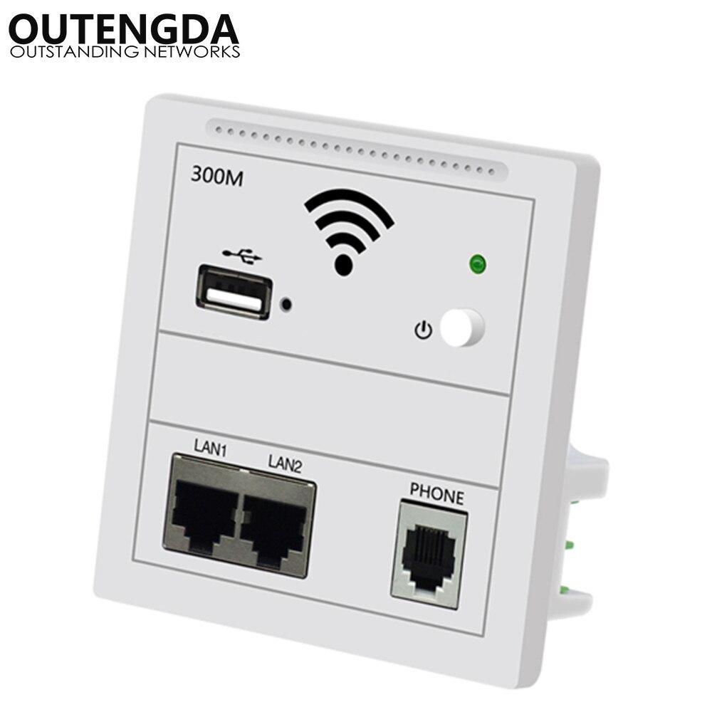 300 Mbps Na Parede Ap Repetidor Wifi Tomada De Parede Roteador Ponto Acesso Sem Fio Ap Rj45 220 V Poe Wi-fi Extensor Usb Chargin Roteador