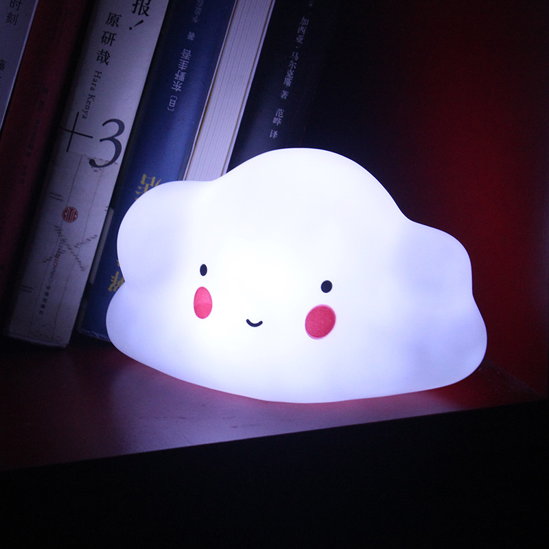 Unicorn Moon Night Light Feeding Baby Sleeping Lamp Cute Smiley Clouds Toy Kids Christmas Gifts Baby Nursery Bedroom Decoration