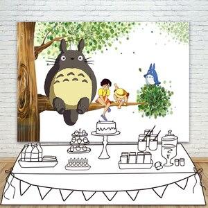 Janpan Аниме Тоторо кошка фотография фоны Дети День Рождения Вечеринка ребенок душ украшения баннер фоны фотостудия реквизит