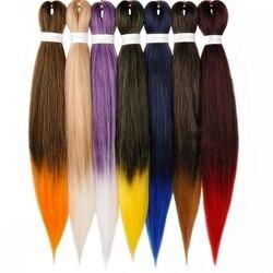 Pré tendu tressage cheveux Ez tresse cheveux Ombre synthétique tressage boîte d'extension de cheveux tresses couleurs de cheveux tresses Kanekalon