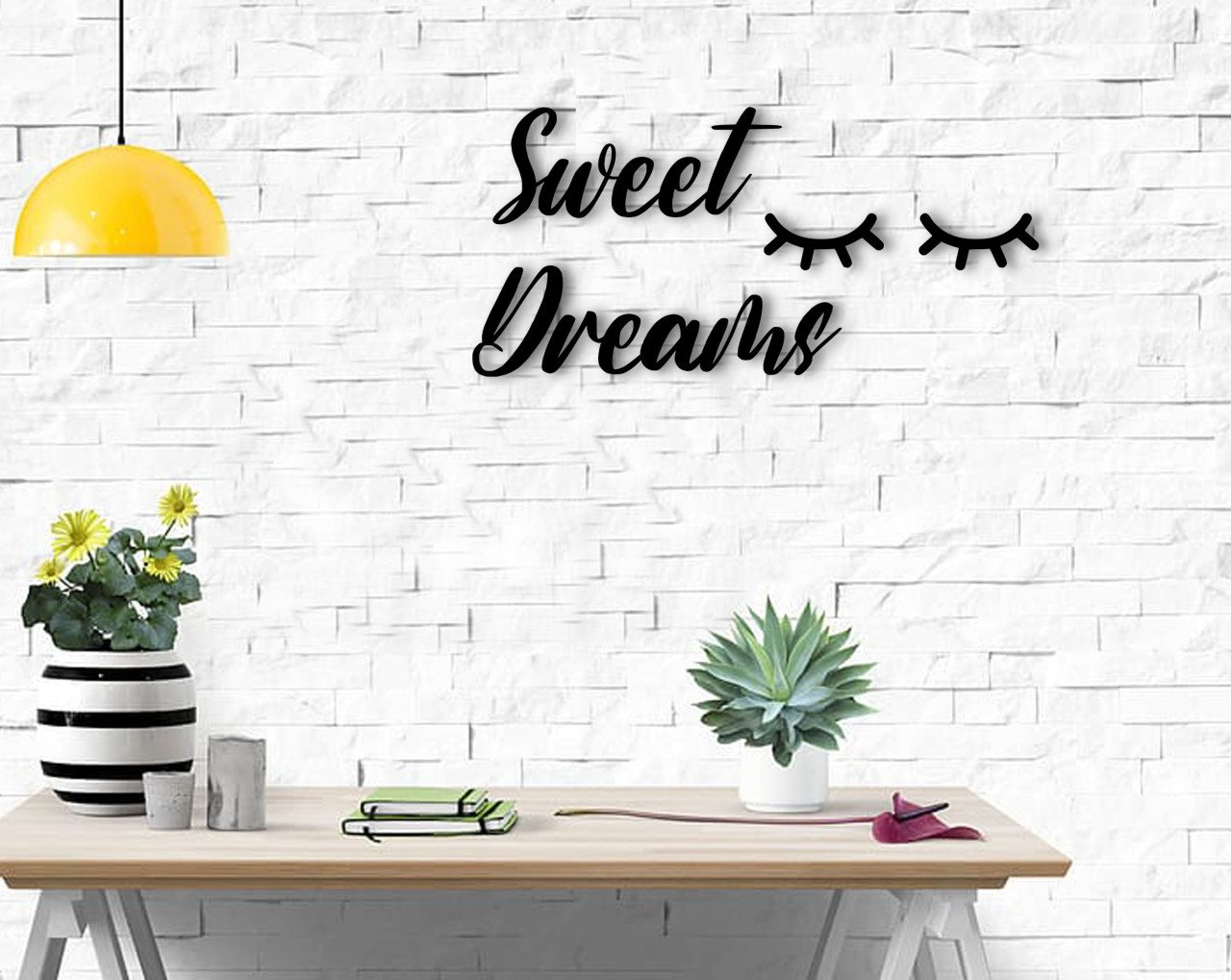 BK Home Sweat Dreams Wood Wall Post Modern Convenient Reliable Decoration Gift Quality Design Simple Cool Black Color
