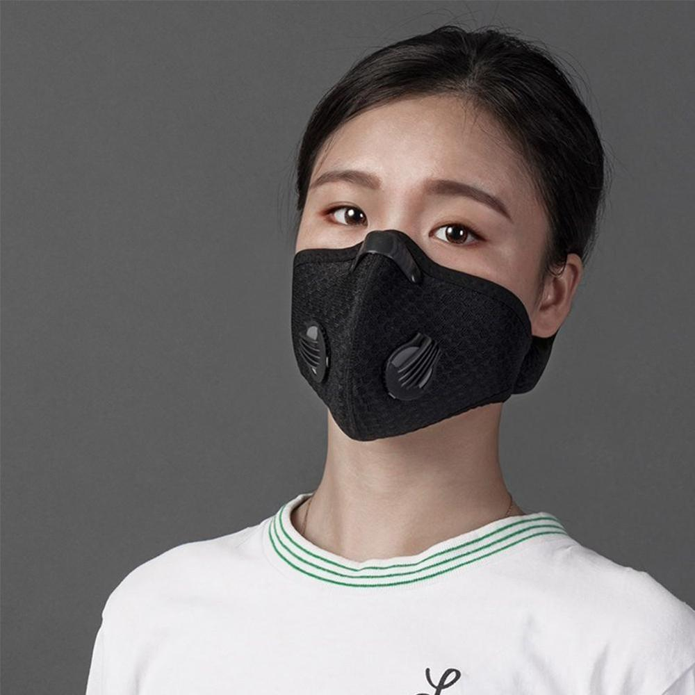 1pc Solid Color Respirator Mask Anti Dust Activated Carbon Filtration Half Face Mouth Masks