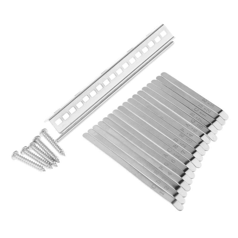 Aluminum Alloy Replacement Keys For 17 Note Kalimba African Mbira Thumb Piano Parts Solid Metal Musical Instruments Accessaries