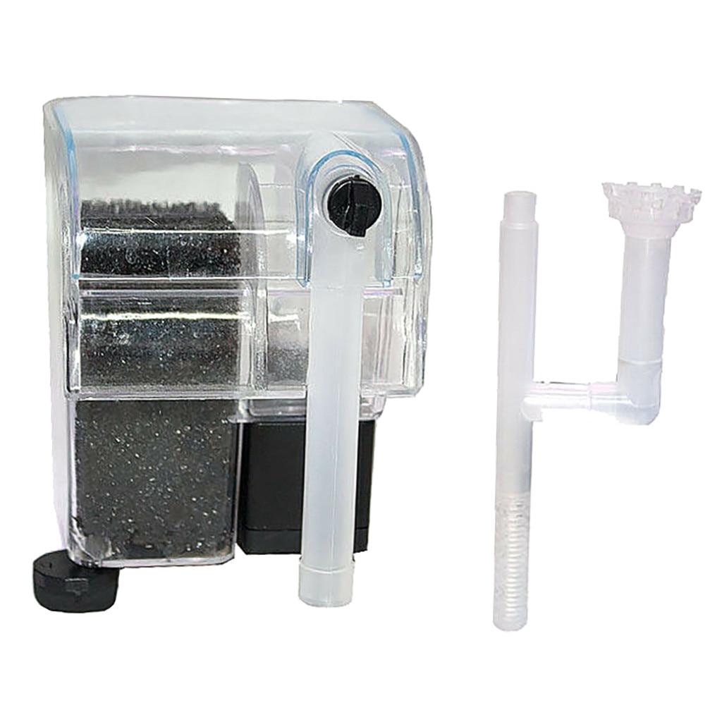 Мини аквариумный аквариум водопад висящий на внешнем кислородном насосе фильтр для воды аквариумный аквариум аксессуары