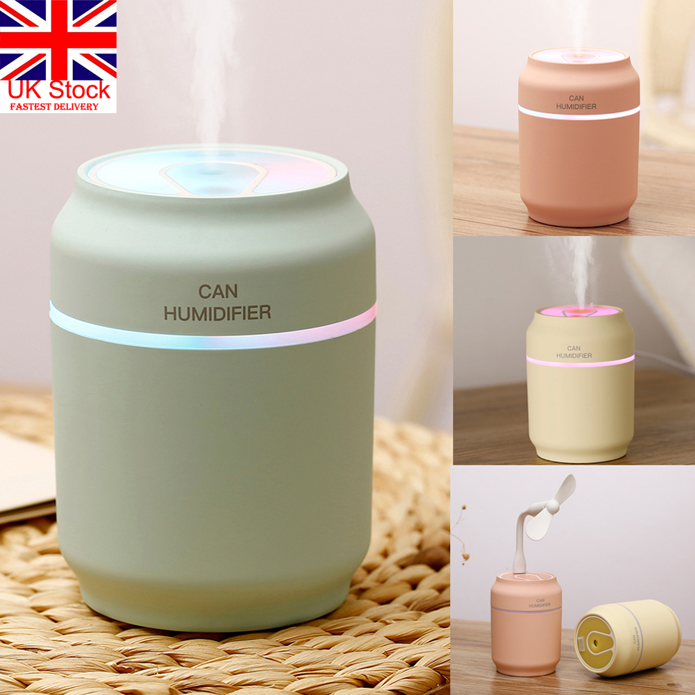 Electric Air Diffuser Aroma Oil Humidifier LED Night Light Home Relax Purifier