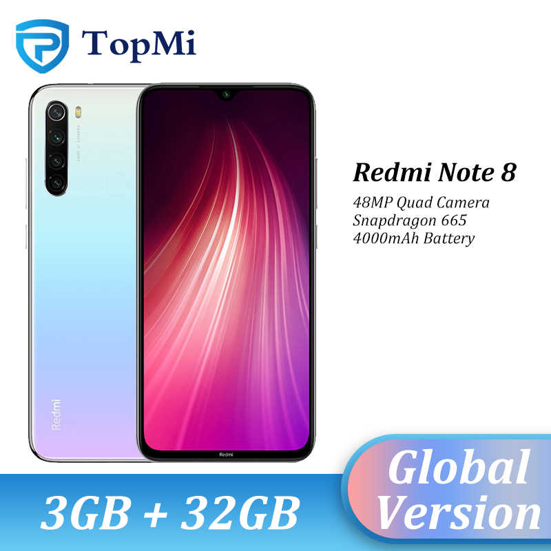 In Stock!Global Version Xiaomi Redmi Note 8 3GB RAM 32GB ROM Smartphone 48MP Quad Camera Snapdragon 665 6.3
