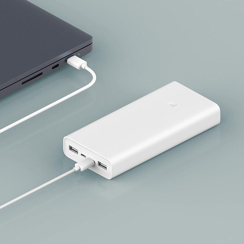 Originale batterie externe de Xiaomi 20000mAh Chargeur Portable pour iPhone Xiaomi Batterie Externe Support Double USB QC 3.0 Powerbank 20000 - 3