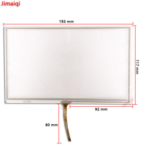 Image 1 - 8 inch 193mm*117mm 4 wire resistive touch screen panel for ZCR 1503B 3 FPC 0356 GPS touch screen digitizer panel replacement