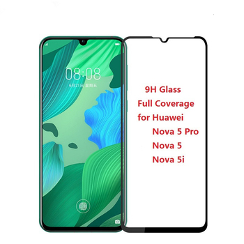 3D Tempered Glass For Huawei Nova 5 5T 5i Pro Nova 4 4E 3 Lite 3i 3E 2i 2 Full Coverage Screen Protector Protective Film 100Pcs