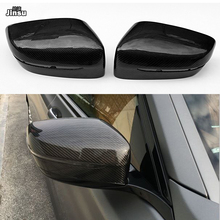 Carbon Fiber Replacement Side Mirror Cover Caps Shell for BMW 7 seies 730i 740i 750i 760i LHD 2016 - 2018 G11 OEM style car cap replacement carbon fiber shell side