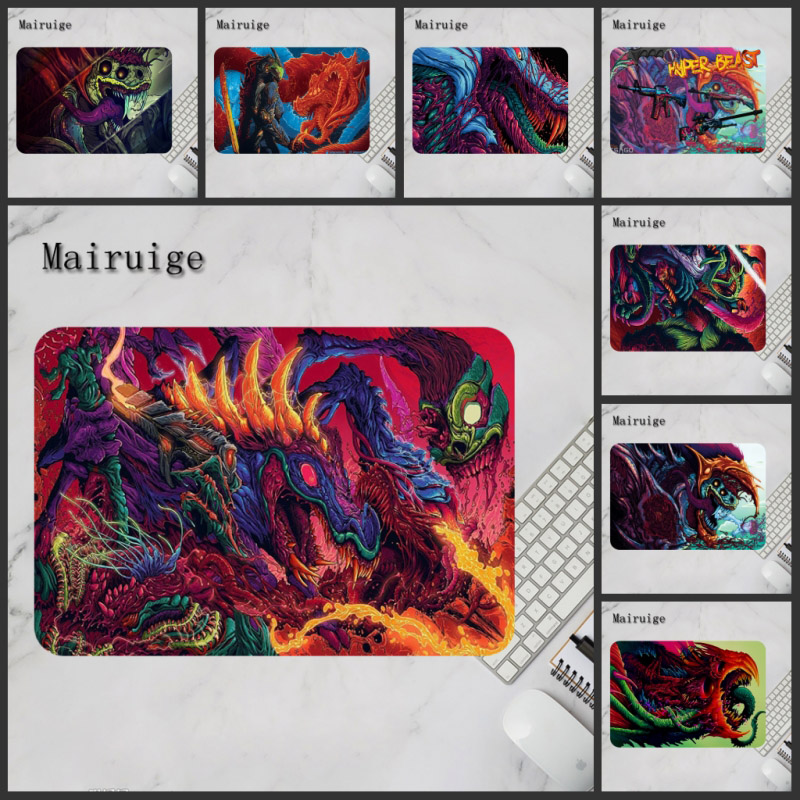 Mairuige Game 220x180mm Hyper Beast No-Lock Edge Gaming Mouse Pad CS GO Keyboard Rubber Mousepad Wrist Rest Table Computer Mat