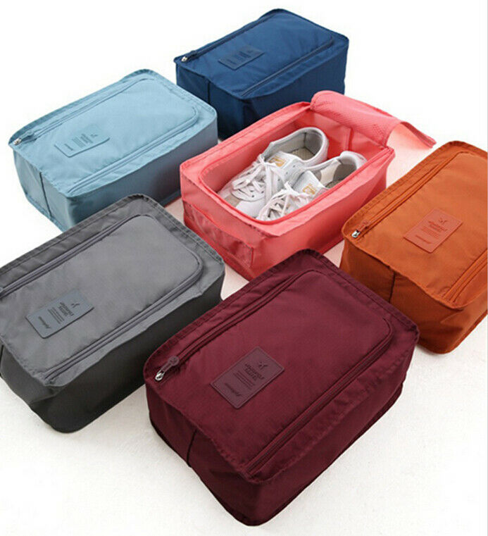 Portable Waterproof Football Shoe Bag Travel Shoe Organizer Keeper Boot Rugby Sports Gym Carry Storage Case Box