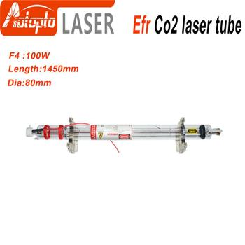 Efr CO2 Laser Tube F4 100W-120W Co2 Glass Laser Tube  Glass Laser Lamp for CO2 Laser Engraving Cutting Machine efr f2 80w co2 glass laser tube 80mm diameter 1250mm length for co2 laser engraving machine