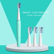 купить 1 Set Electric Toothbrush sonic electric toothbrush No rechargeable 3 Brush Heads Battery Operated Teeth Brush дешево