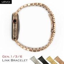 Браслет URVOI из нержавеющей стали, регулируемый браслет 6 го и 3 го поколения для apple watch series 6 5 4 3
