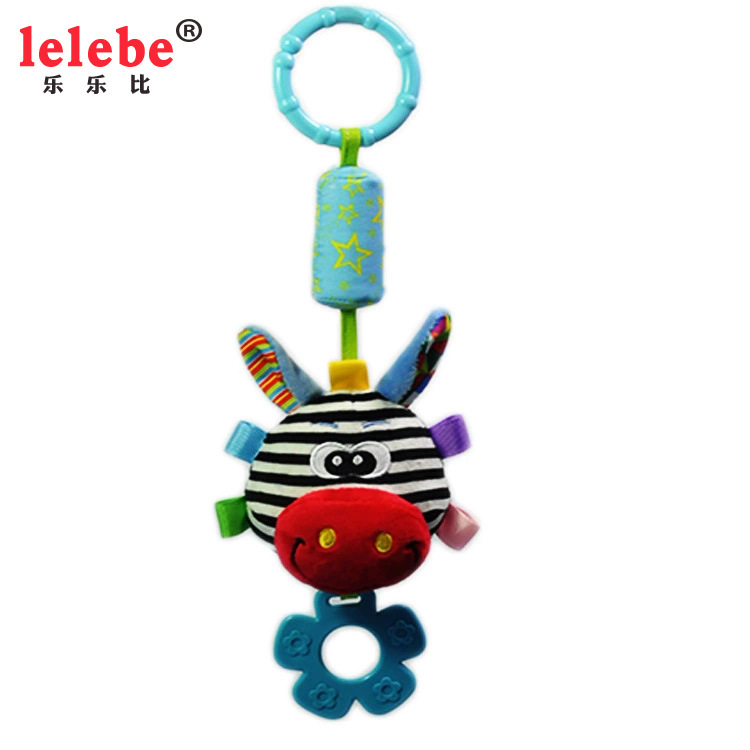 Baby Bed Rattles Stroller Toys Wind Chim  BB Call Newborn 0-12m Bed Toys Newborn Bed Wind Bell Animal Windmill  Mother Baby Toy