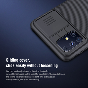 Image 5 - NILLKIN Case for Samsung Galaxy M31S Back cover,Camera Protection Slide Protect Cover Lens Protection Back coverfor Samsung M31S