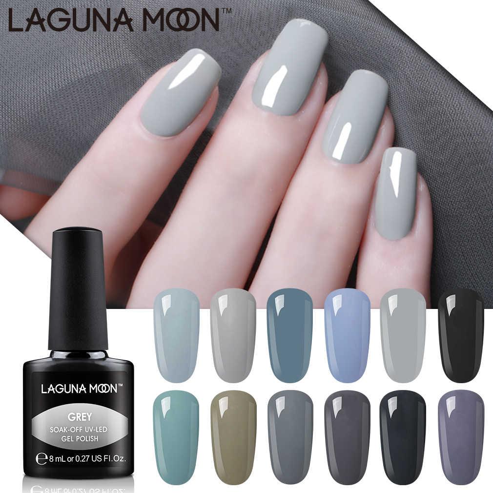 Lagunamoon Grey Color Series Gel Nail Polish Uv Led Soak Off Varnish Lacquer Manicure Pedicure Nail Gel Polish Beauty Salon Nail Gel Aliexpress
