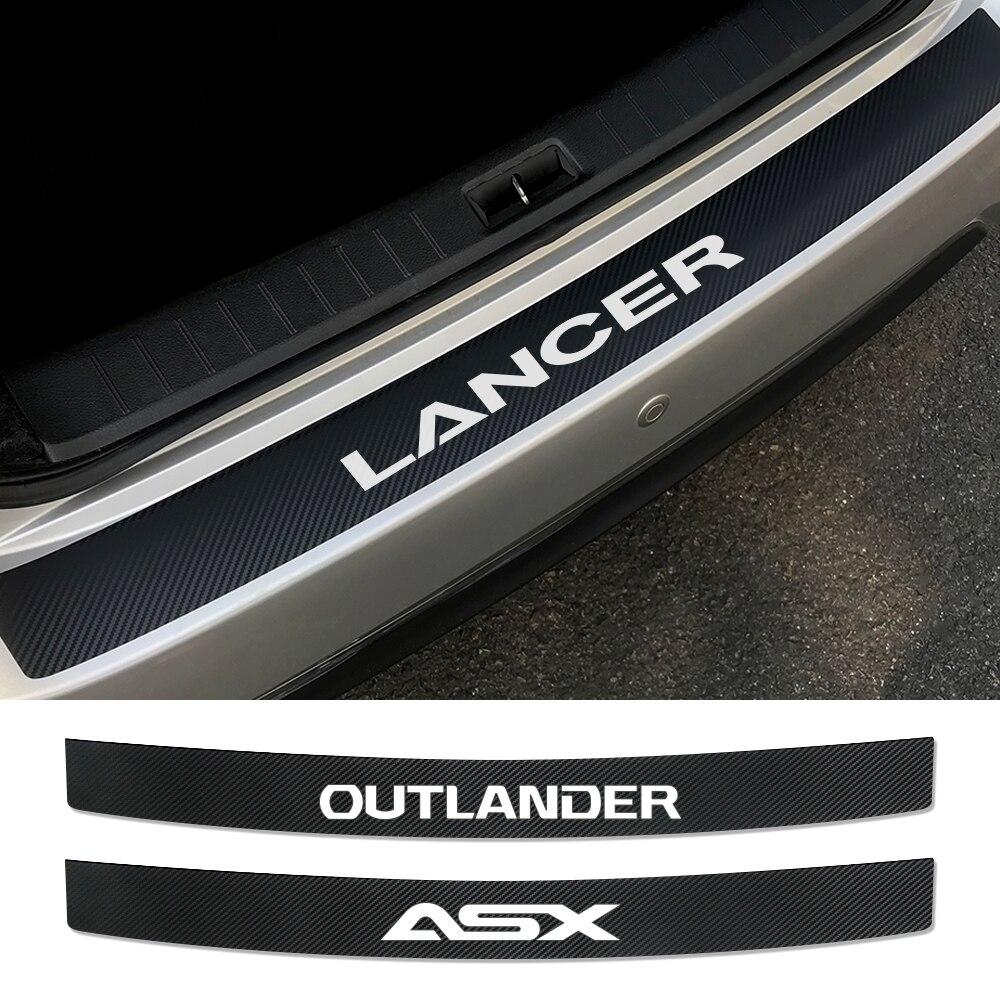 Auto Rear Bumper Protective Stickers For Mitsubishi Lancer 10 3 9 EX Outlander 3 ASX L200 Ralliart Competition Car Accessories