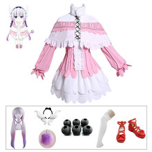 DMCOS Kanna Cosplay Japanese Anime Kobayashis Dragon Maid Kamui Costume Halloween Party Kawai Womenswear Costumes