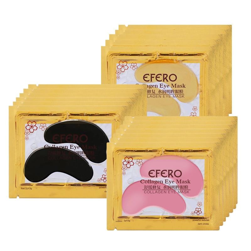1pair Gold Crystal Collagen Eye Mask Face Mask Gel Eye Patches For Eye Bags Wrinkle Dark Circles Moisturizing Skin Care TSLM2
