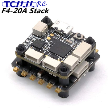 original emax f4 magnum all in one fpv stack tower system f4 osd 4 in 1 blheli s 30a esc vtx frsky xm rx TCMMRC F4-20A Flight Controller Brushless ESC Flying stack ESC E2069 voltage 2-6 S Lipo for RC Drone FPV Racing 20x20mm