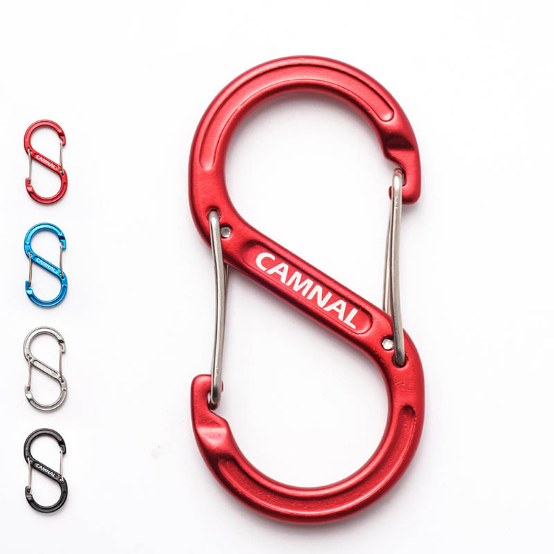 Carabiners Super Light 8-shape S Shape Climbing Aluminum Magnesium Alloy Backpack Buckles Bottle Hook Quickdraws Key Chain Kits