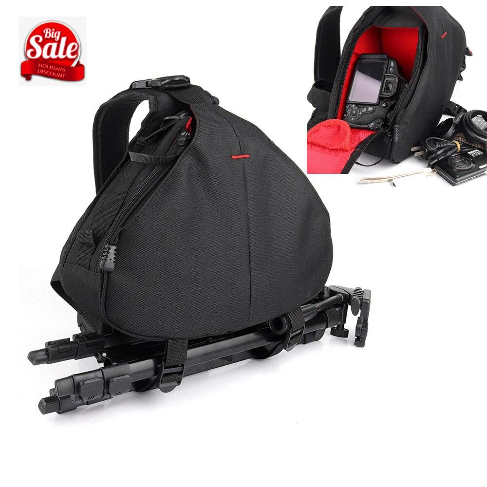 Waterproof Backpack Shoulder Black Camera Bag Case For Canon Eos 1300D 760D 750D 700D 600D 7D 80D 6D 5Dii 5Ds 5Dr 60D 1200D