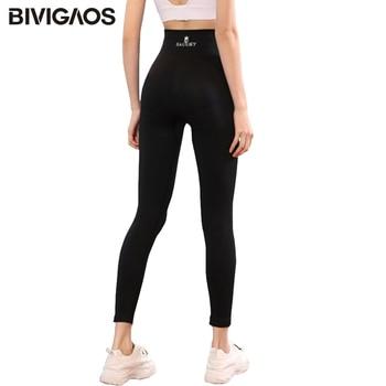 BIVIGAOS Body Shaper Flower Fat Burning Sleep Pants High Elastic Sport Fitness Leggings Women Black Shaping Push Up Leggings 1